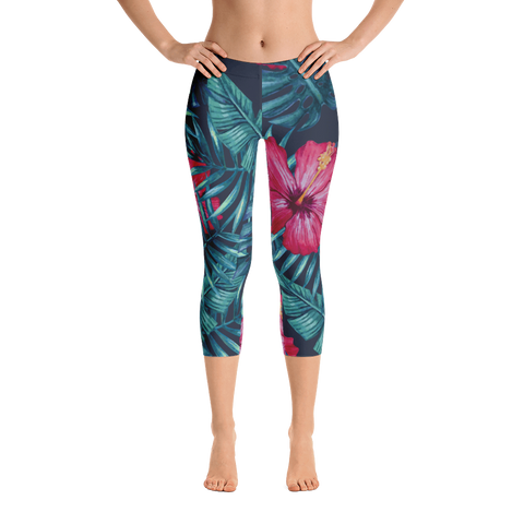 tropical nights - capri leggings