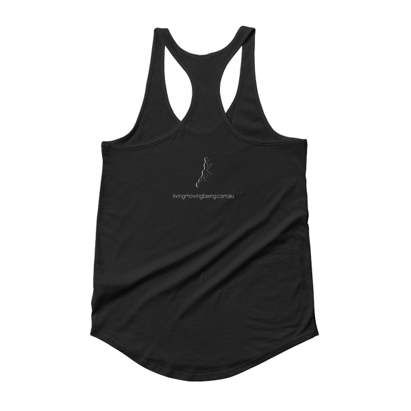 PB + Banana = LIFE women's tank (black)