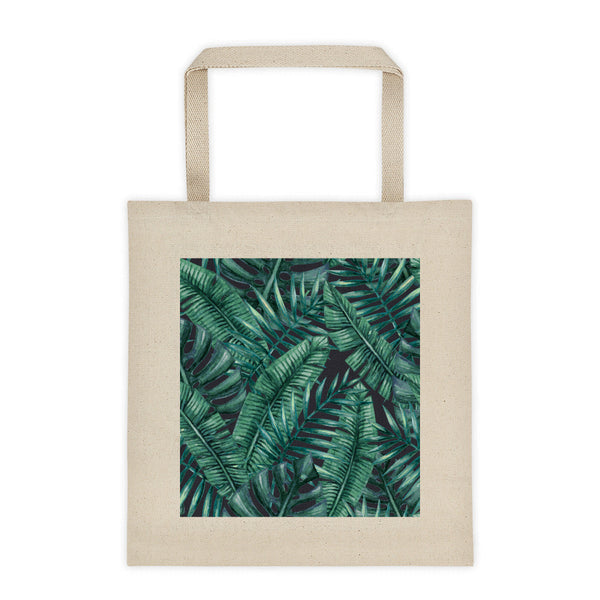 canvas tote bag - night fern