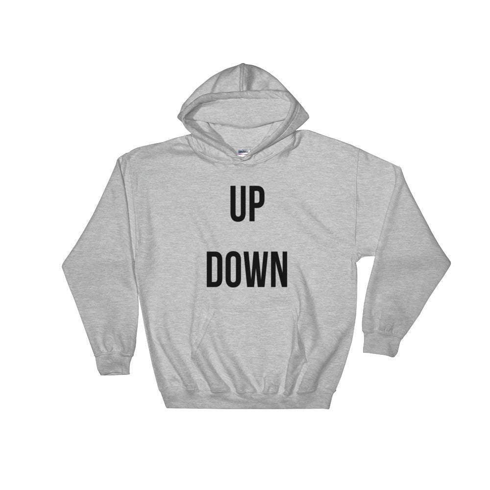 Up Down hoodie - unisex (grey)