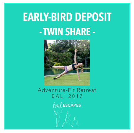LMB Escapes - $500 deposit for Early Bird Twin Share