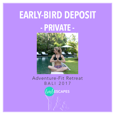 LMB Escapes - $500 deposit for Early Bird Private