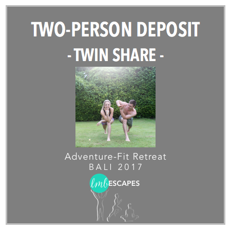 LMB Escapes - $1000 deposit for 2-Guests Twin Share