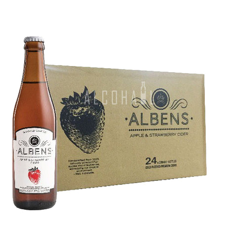 Albens Apple & Strawberry Cider - Case 24 x 330ml