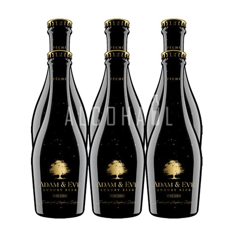 Adam & Eve Péché 23 Carat Gold Luxury Beer  - Pack 6 x 330ml
