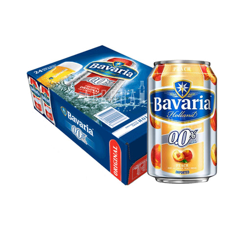 Bavaria Non-Alcoholic Beer Peach - Case 24 x 330ml
