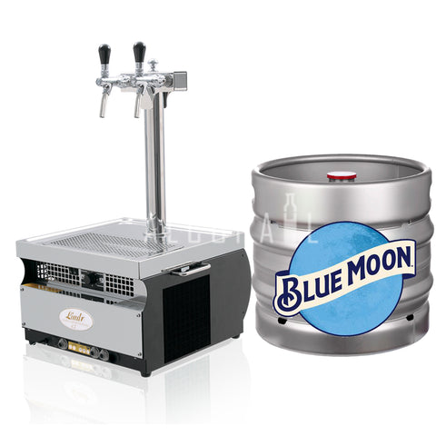 Blue Moon Belgian White Beer Keg 30 Litre [Mobile Bar Dispenser Chargeable]