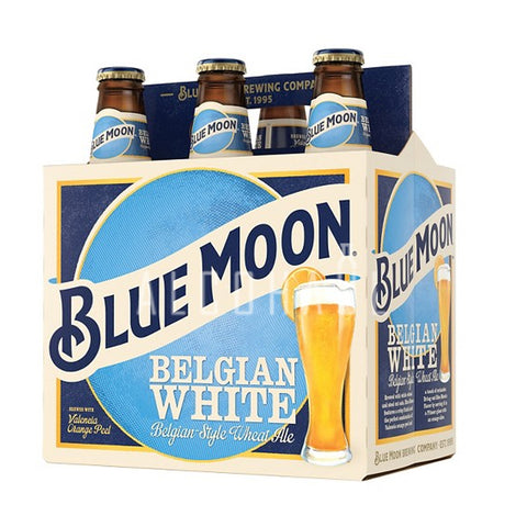 Blue Moon Belgian White Beer - Pack 6 x 330ml