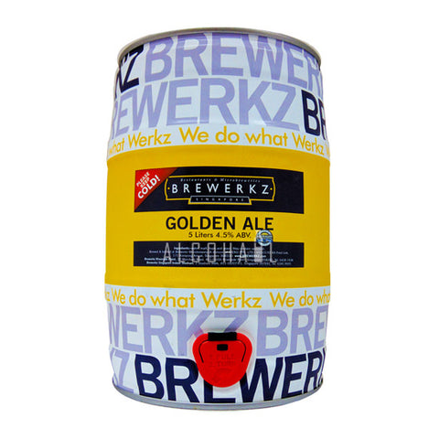 Brewerkz Golden Ale 5Litre Mini Keg