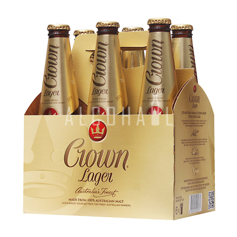 Crown Lager 330ml - Pack 6 x 375ml