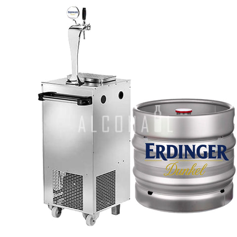 Erdinger Dunkel Beer Keg 30 Litre [Mobile Bar Dispenser Chargeable]