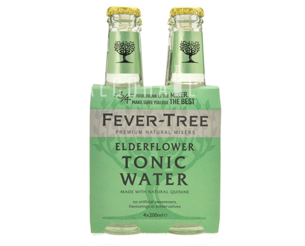 Fever Tree Premium Elderflower Tonic - Pack 4 x 200ml