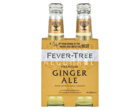 Fever Tree Premium Ginger Ale - Pack 4 x 200ml