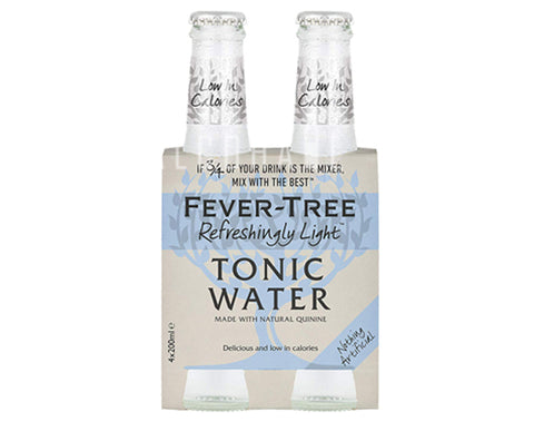 Fever Tree Premium Refreshingly Light Tonic - Pack 4 x 200ml