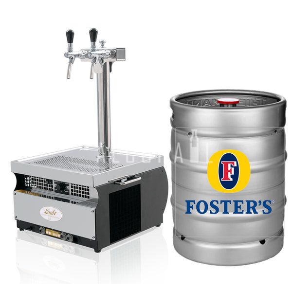 Fosters Lager Beer Keg 50 Litre [Mobile Bar Dispenser Chargeable]