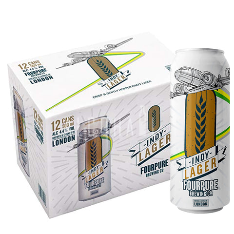 Fourpure Indy Lager - Case 24 x 500ml