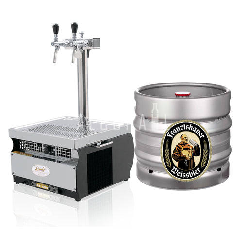 Franziskaner Weissbier Beer Keg 30 Litre [Mobile Bar Dispenser Chargeable]