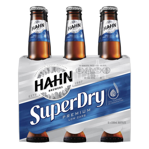 Hahn Super Dry - Pack 6 x 330ml
