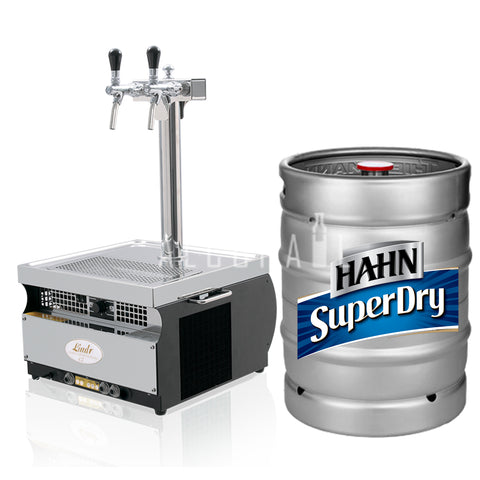 Hahn Super Dry Beer Keg 50 Litre [Mobile Bar Dispenser Chargeable]