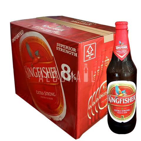 Kingfisher Premium Extra Strong Quart - Case 12 x 650ml