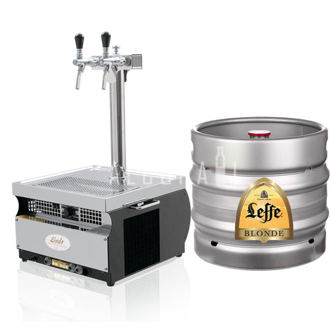 Leffe Blonde Draft Beer Keg 30 Litre [Mobile Bar Dispenser Chargeable]