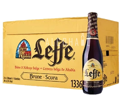 Leffe Brune Dark Beer - Case 24 x 330ml