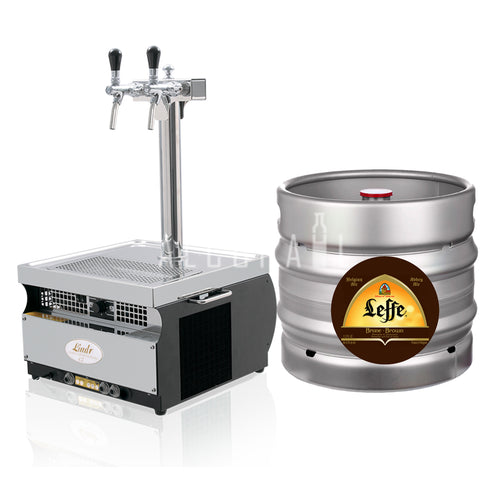 Leffe Brune Draft Beer Keg 30 Litre [Mobile Bar Dispenser Chargeable]