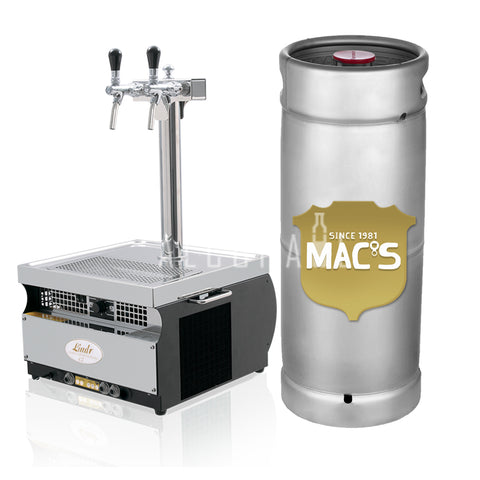 Mac's Great White Beer Keg 25 Litre [Mobile Bar Dispenser Chargeable]