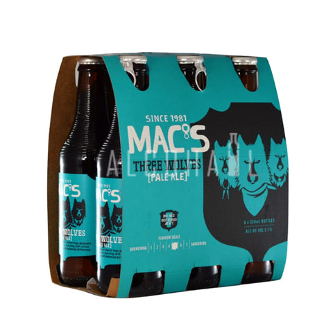 Mac's 3 Wolves 330ml - Pack 6 x 330ml