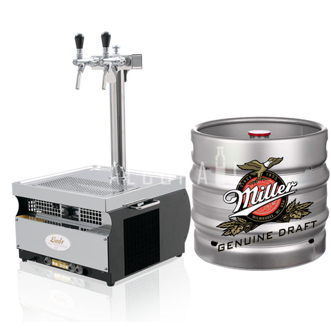 Miller Genuine Draft Beer Keg 30 Litre [Mobile Bar Dispenser Chargeable]
