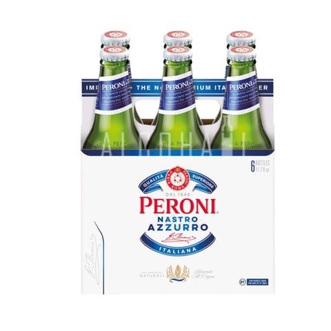 Peroni Nastro Azzurro Beer - Pack 6 x 330ml