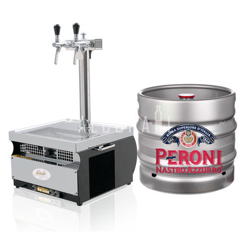 Peroni Nastro Azzurro Beer Keg 30 Litre [Mobile Bar Dispenser Chargeable]