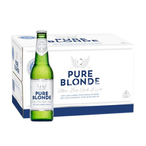 Pure Blonde Ultra Low Carb Beer - Case 24 x 355ml