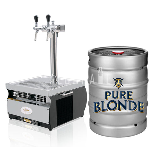 Pure Blonde Ultra Low Carb Beer Keg 50 Litre [Mobile Bar Dispenser Chargeable]