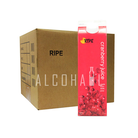 Ripe Cranberry Juice - Case 12 x 1 Litre