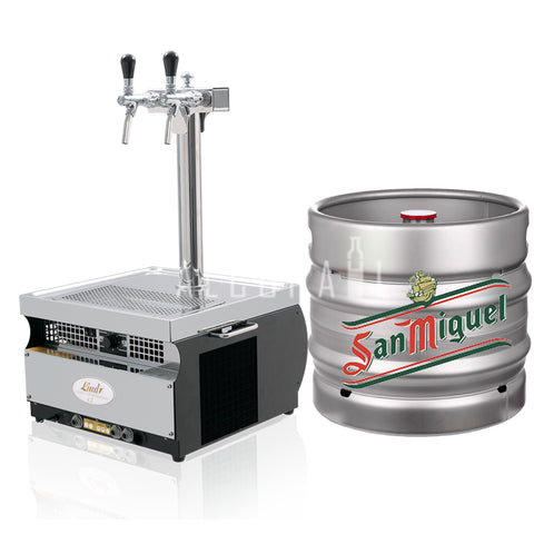 San Miguel Draft Beer Keg 30 Litre [Mobile Bar Dispenser Chargeable]