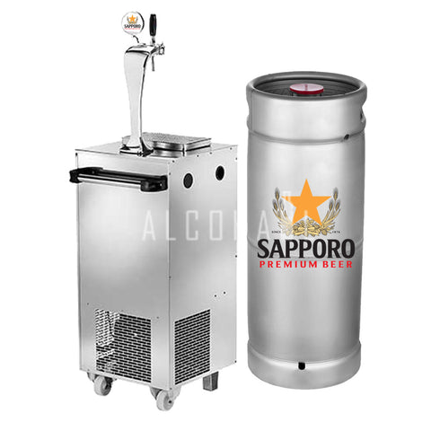 Sapporo Premium Beer Keg 20 Litre [Mobile Bar Dispenser Chargeable]