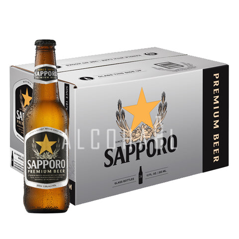 Sapporo Premium Beer Pint - Case 24 x 330ml