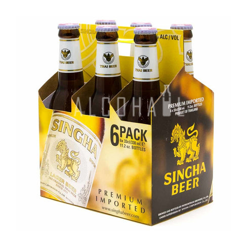Singha Beer Bottle - Pack 6 x 320ml