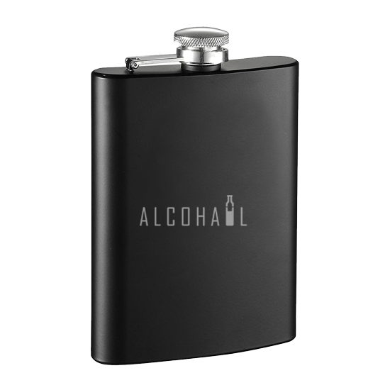 Stainless Steel Hip Flask 7oz (Matte Black)