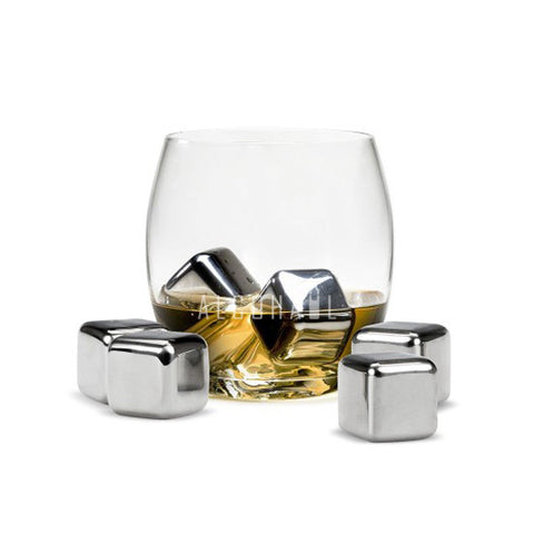 Steel Whisky Stones (Set of 6)