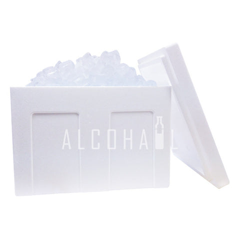 Styrofoam Chiller Box with Ice