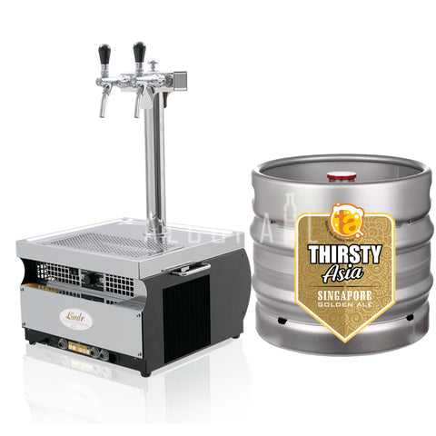 Thirsty Asia Singapore Golden Ale Beer Keg 30 Litre [Mobile Bar Dispenser Chargeable]