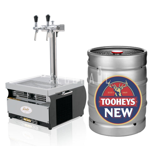 Tooheys New Beer Keg 50 Litre [Mobile Bar Dispenser Chargeable]