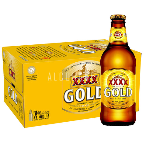 XXXX Gold 375ml - Case 24 x 375ml