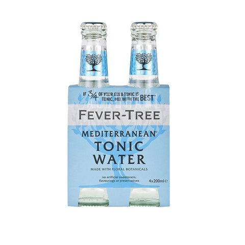 Fever Tree Mediterranean Tonic Water - Pack 4 x 200ml