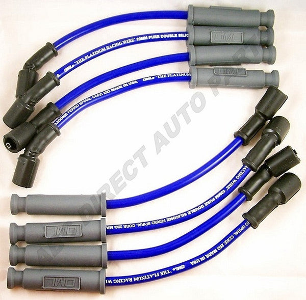 GM SUV/Truck 10mm High Performance Blue Spark Plug Ignition Wire Set 29192B For Use with Square Coil