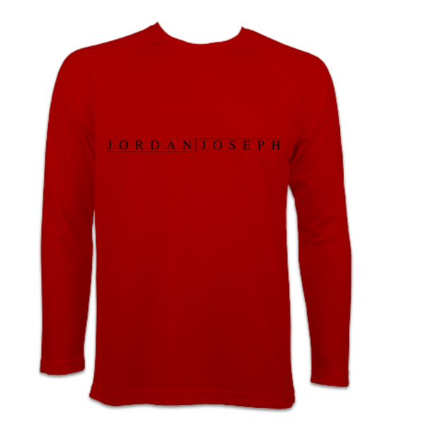 Men's Long-Sleeve Running Top (Fire Red)