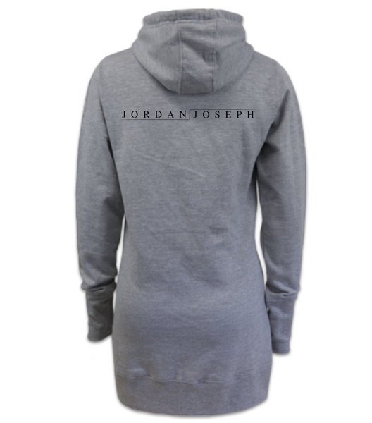 Ladies Dress Hoodie (Battle Ship Grey)