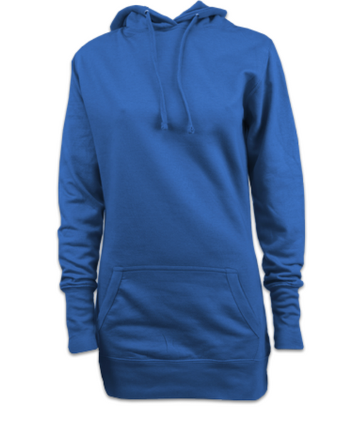 Ladies Dress Hoodie (Sapphire Blue)